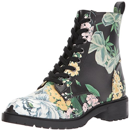 Steve Madden Women's Officer Combat Boot, Floral, 8.5 M US