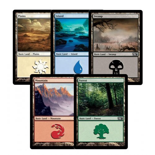 300-Assorted-Magic-The-Gathering-MTG-Basic-Lands-Cards
