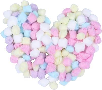 Lurrose - Bolas de algodón para maquillaje (500 g), color rosa ...