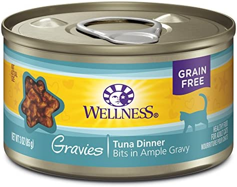 Wellness Natural Grain Free Wet Canned Cat Food Gravies Tuna