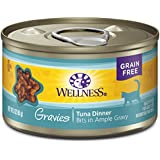 Wellness Complete Health Natural Grain Free Wet Canned Cat Food, Gravies Tuna Dinner, 3-Ounce Can (Pack Of 12)