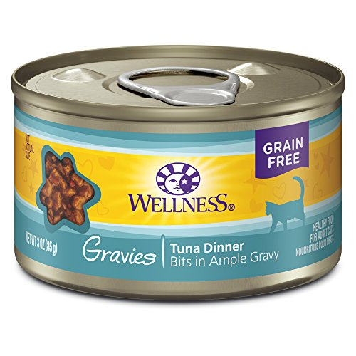 - Wellness Complete Health Natural Grain Free Wet Canned Cat Food, Gravies Tuna Dinner, 3-Ounce Can (Pack Of 12)
