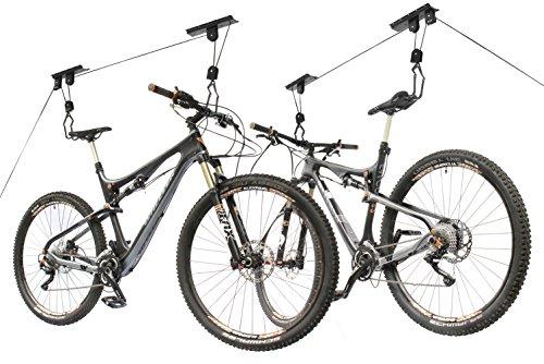 2x Storage Hoist Surfboard Kayak Bicycle Rack Bike Lift Ceiling Hooks 02 Ceiling Mount