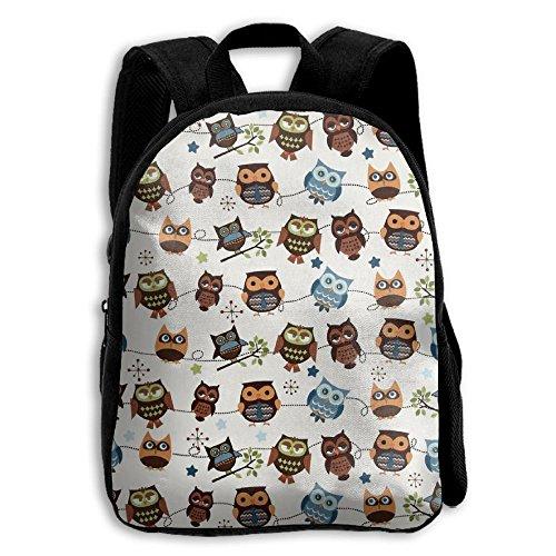 Owl Hoot Roll Call Cream Kid Boys Girls Toddler Pre School Backpack Bags (Screech Owl Call)