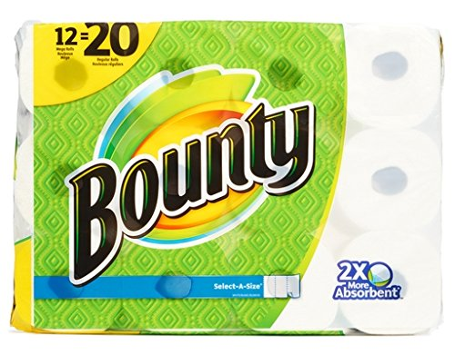 Large Product Image of Bounty Select-a-Size Mega Roll Paper Towels, 92 sheets, 12 rolls