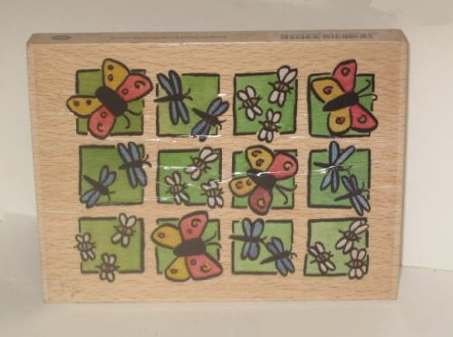 2003 Sugarloaf Whispers Large Stamp with Wood Base - Insects: Butterflies Bees & Dragonflies - Kids Sugarloaf