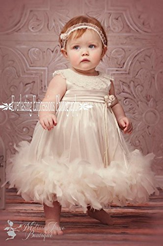 Cute Baby Feather Dress by MelissaJaneDesigns