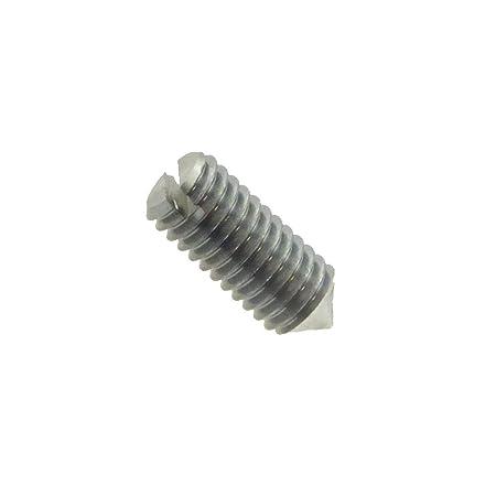 Gewindestift mit Spitze und Schlitz DIN 553 A1 rostfrei M 2 x 4-50 St/ück