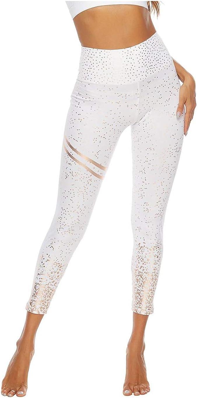 Luiyy® Leggings Mujer Deporte Cintura Alta Mallas Pantalones con ...