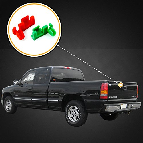 Review Red Hound Auto 1999-2007 Chevy Silverado GMC Sierra Tailgate Handle Rod Clip New Left & Right OEM Replacement Pair 88981030, 88981031