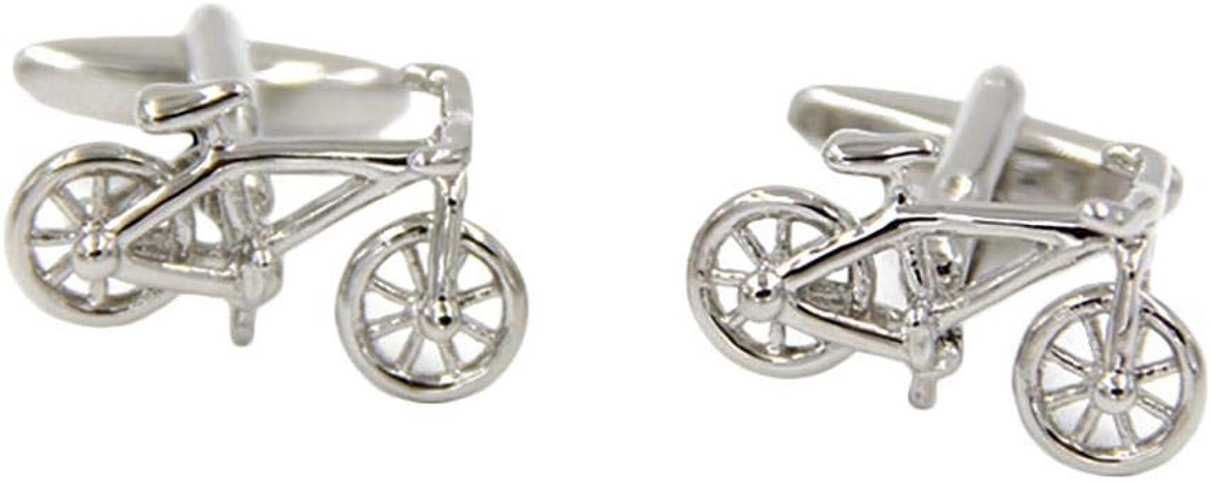 Doitsa 2pcs Bicicleta Gemelos Camisa Creativo para Hombres Acero ...