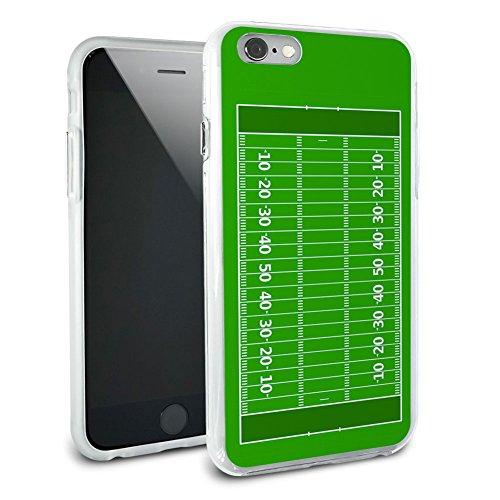 Fußballfeld Hybrid Rubber Schutz Hülle Slim Case Cover Etui Bumper Hülle für Apple iPhone 6