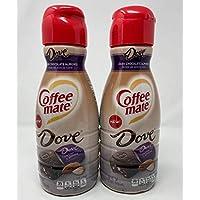 Coffee Mate DOVE Dark Chocolate Almond Liquid Coffee Creamer - 32 fl oz - Pack of 2