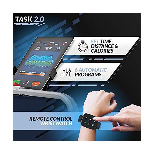 Bluefin Fitness Tapis de Course Pliable Task 2.0 2-en-1 Tapis de Marche à la Maison | 8 Km/h | Tech de Protection des…