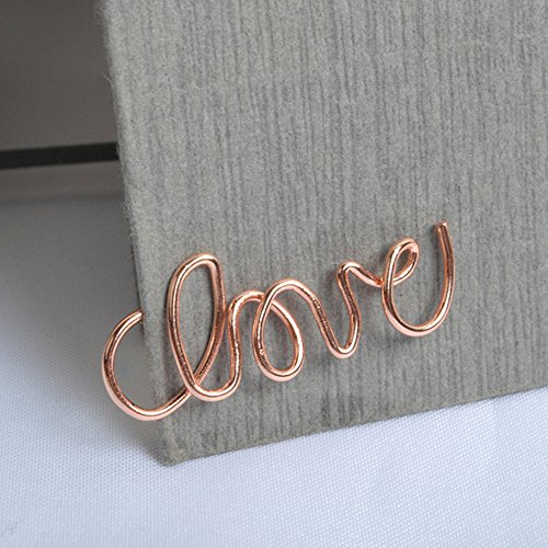 (Funnylive 8Pcs;Creative Large Paperclip Metal Stainless Steel Bookmark Rose Gold -'Love','$','Rings','High Heels','Bow tie' (Random Mixed))