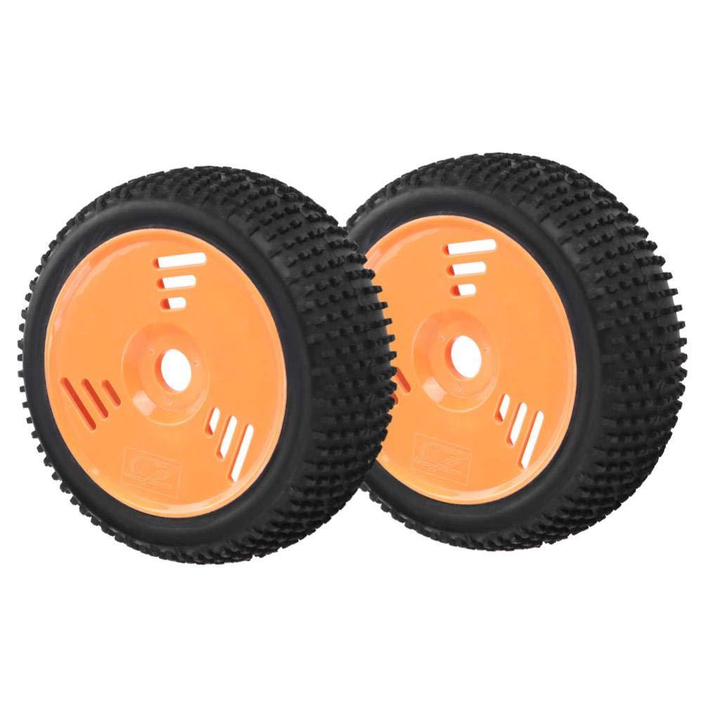 Dilwe 1/8 RC Ruedas y Neumáticos, 2Pcs/Set RC Buggy Short Truck Neumáticos de Goma: Amazon.es: Juguetes y juegos
