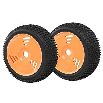 Dilwe 1/8 RC Ruedas y Neumáticos, 2Pcs/Set RC Buggy Short Truck