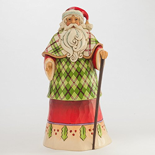 Jim Shore Heartwood Creek Highland Holidays Santa in Robe Christmas Figurine (Highland Santa)