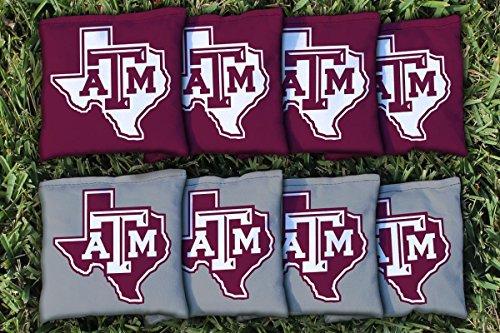 Texas Bean Bag (Texas A&M University Aggies Replacement Cornhole Bag Set (corn filled))