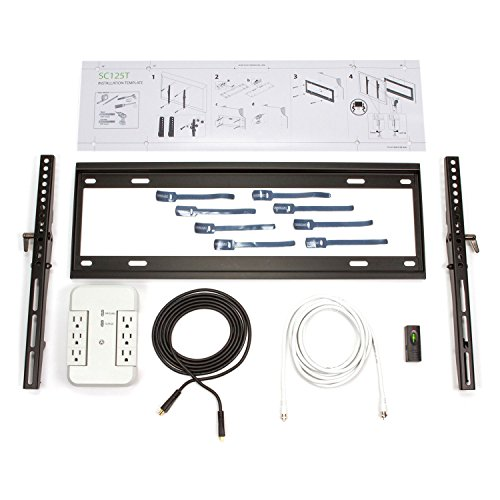 Flatscreen TV Wall Mount LED LCD PLASMA 3D HDMI Surge Protector Vesa Compliant Kit for 37-85