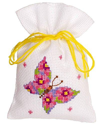 Vervaco Pink Butterfly Pot Pouri Bag Kit