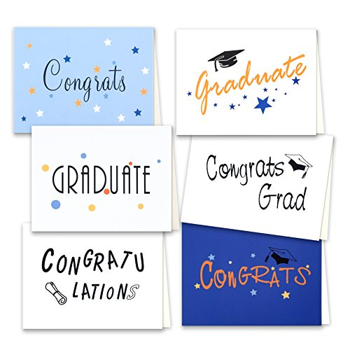 Kuuqa 36 Pack Congratulations Graduation Greeting Cards with Envelopes and 36 (Congratulations Pack)
