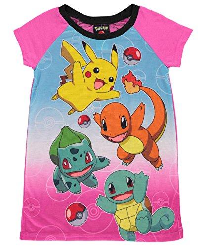 Pokemon Pika Pika Nightgown for Little Girls Photo
