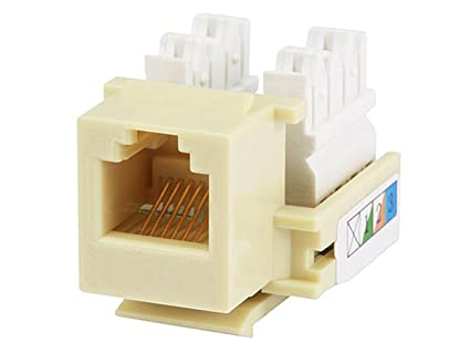 Monoprice RJ12 Keystone Jack, 110 Type, Beige on 110 ac outlet diagram, wall outlet diagram, 220v plug diagram, 3 wire 220 outlet diagram,