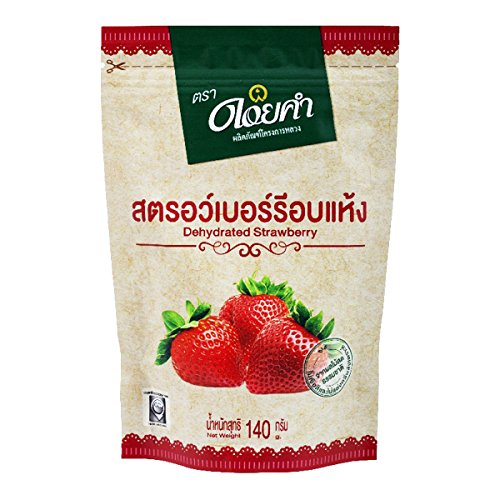 Doikham Dried Strawberry 140g. Product of - Shop Uk Graze