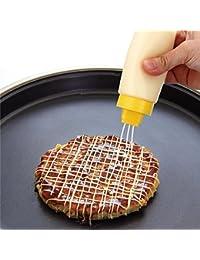Gain 1 Piece 300 ml 4 hole Squeeze salad Ketchup sauce bottle Squeeze Dispenser Cruet Bottles Kitchen Accessories kitchen... discount