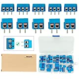 MCIGICM kf301-2p kf301-3p Pin Screw Terminal Block Connector 5mm Pitch for Arduino (Pack of 60pcs)