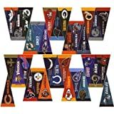 Our NFL Mini Pennant Set includes all 32 NFL teams to display in your game room, bar room, bedroom or any room. They are mini-size pennants which measure 4 x 9 and are single-sided imprinted with the NFL team logos as shown. All pennants are ...