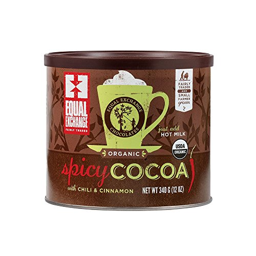 Chocolate Hot Chocolate Organic (Equal Exchange Organic Spicy Hot Cocoa | Cocoa with Cinnamon and Cayenne Pepper | 12-Ounce Cans | Pack of 3)