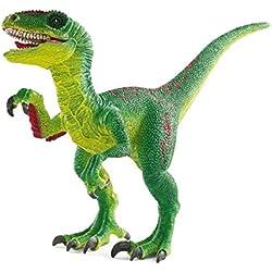 Schleich Réplica de Figura de Dinosaurio Velociraptor, color verde