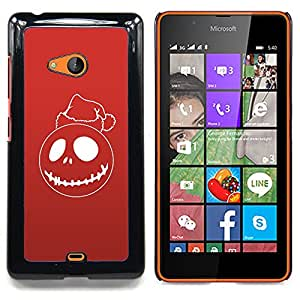 Red Christmas Ghost Caja protectora de pl??stico duro Dise?¡Àado King Case For Microsoft Nokia Lumia 540 N540