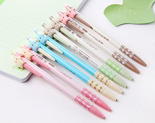 Cute Mechanical Pencils (Schoolsupply Set of 10 Cute Cartoon Stars Automatic Pencil Writing 0.7mm Pencil Stationery School Supplies for)