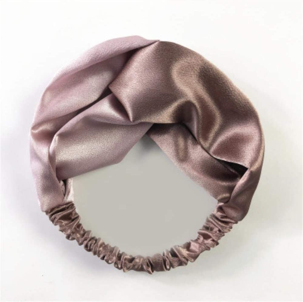 BHG - Diademas de retales para mujer, con nudo cruzado, elástico, sedoso, vintage, accesorios para el pelo, B, Size fits all
