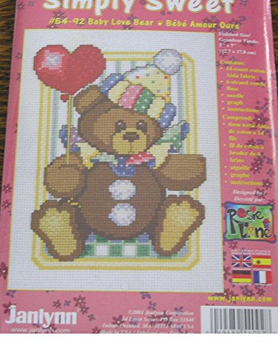Simply Sweet 2001 BABY LOVE BEAR Counted Cross Stitch Kit #54-92