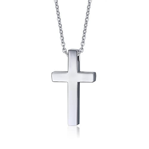 Foxi Youth High Polished Men S Stainless Steel Simple Cross