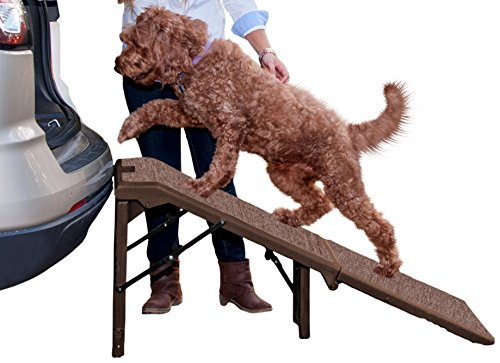 Carpeted Ramp (Pet Gear Free-Standing Extra Wide Carpeted Pet Ramp, Chocolate)