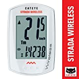 CAT EYE - Strada Wireless Bike Computer, White