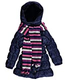 Pink Platinum Kid's Girls Long Quilted Puffer with Scarf