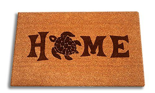 - Sea Turtle Home Laser Engraved Coir Fiber Welcome Doormat 30