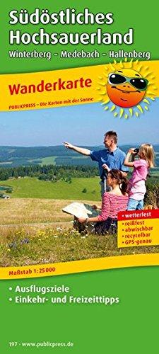 Südöstliches Hochsauerland, Winterberg - Medebach - Hallenberg: Wanderkarte mit Ausflugszielen, Einkehr- & Freizeittipps, wetterfest, reissfest, abwischbar, GPS-genau. 1:25000 (Wanderkarte / WK)