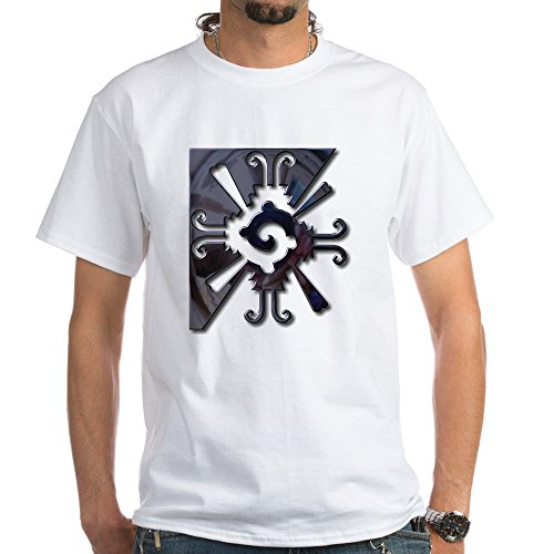 CafePress - Mayan Design-metal White T-Shirt - 100% Cotton T-Shirt, Crew Neck, Comfortable and Soft Classic White Tee with Unique Design