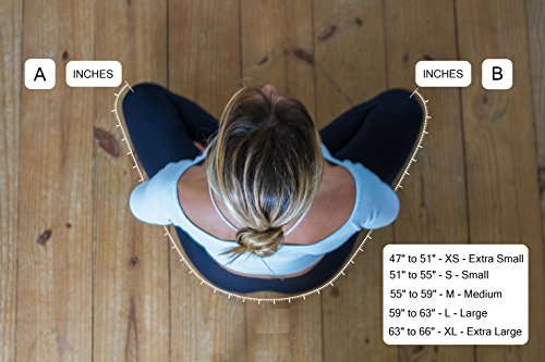 Padma Seat - Best Yoga Seat Strap, Meditation Seat Stool Cushion Belt, Support for Effortless Sitting & Meditation in the Lotus Asana position (Maroon, Large)