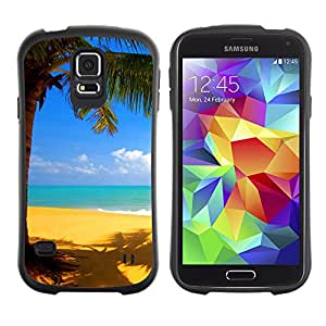 Pulsar iFace Series Tpu silicona Carcasa Funda Case para SAMSUNG Galaxy S5 V / i9600 / SM-G900F / SM-G900M / SM-G900A / SM-G900T / SM-G900W8 , Yellow beach