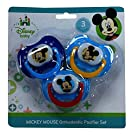 Disney Mickey Mouse 3 Pack Orthodontic Pacifier Set