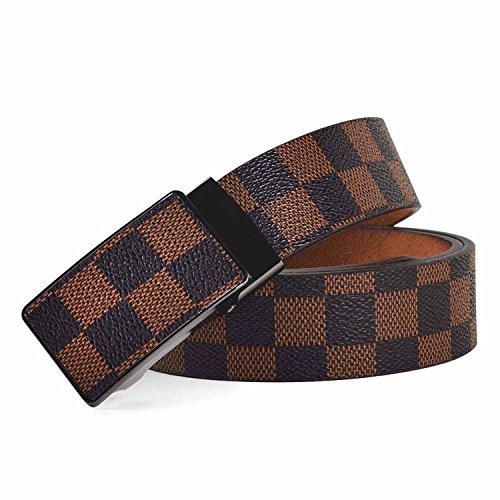 Habitaen Men Genuine Leather Belt H Buckle Brand For Business Men Leather Belt,Lm656A,130Cm by Habitaen