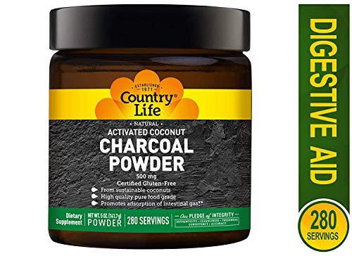 Country Life Charcoal Powder (500mg) 5 Oz, 0.18 Pound